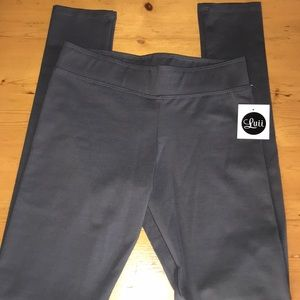 Luii Charcoal Thick Leggings S NWT